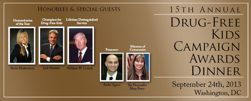 CADCA's Drug-Free Kids Campaign Awards Dinner will feature several national speakers.  ...
