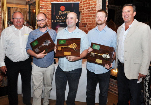 Pilsner Urquell Master Homebrewer Competition at Smith Commons in Washington, DC. From left: Pilsner Urquell ...