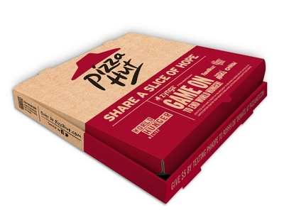 "Pizza Hut is challenging America to ""Share a Slice of Hope"" during the 2011 World Hunger Relief campaign via multiple donation channels, including an exclusive integration with social game developer Zynga via online contributions at zynga.com/pizzahut through Oct. 31, 2011. (PRNewsFoto/Pizza Hut)"