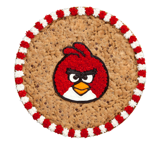 Mrs. Fields' Angry Birds Cake, featuring Red Bird, offers festive new twist to parties and cakes. (PRNewsFoto/Mrs. Fields)