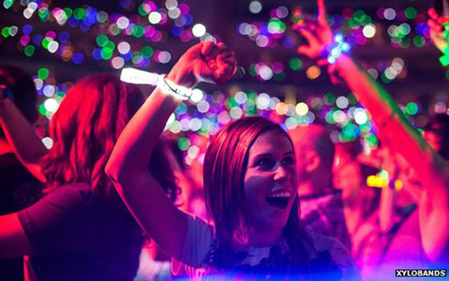 Xylobands are the world's first live controlled wristbands, allowing the entire crowd to be lit up with pixels of light and motion. Stadium shows can display huge pixel effects created with XyloBands interactive LED technology. The ground-breaking ...