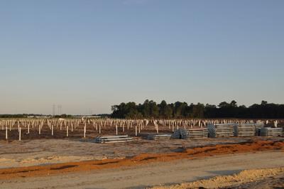 Helical pile installation. (PRNewsFoto/Cantsink Manufacturing)