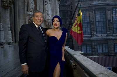 TONY BENNETT AND LADY GAGA'S CHEEK TO CHEEK AT NO. 1 ON THE BILLBOARD 200, JAZZ ALBUM AND TRADITIONAL JAZZ ALBUM CHARTS (PRNewsFoto/Interscope Records)