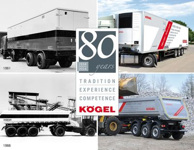 80 years of Kogel (PRNewsFoto/Koegel Trailer GmbH & Co. KG)