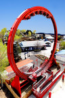 Six Flags Discovery Kingdom will open the all new Dare Devil Chaos Coaster in 2015, a pendulum-style thrill ride that takes passengers on 360 degree revolutions. This ride brings the total coasters at the park to nine. (PRNewsFoto/Six Flags Discovery Kingdom)