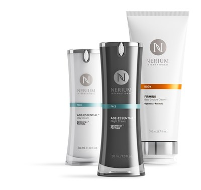 Nerium International introduces its exclusive Age-Essential(TM) Day Cream Optimera+(TM) Formula, Age-Essential(TM) Night Cream Optimera+(TM) Formula and Firming Body Couture Cream(TM) Optimera(TM) Formula age-caring* products throughout Japan starting July 19, 2016. *Skincare for all age groups.
