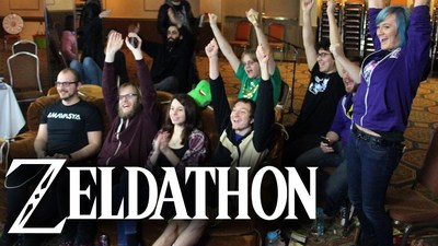 The Zeldathon team hosts a semiannual gaming marathon to raise funds for charities by playing The Legend of Zelda series for 120 or more consecutive hours. Since 2009, Zeldathon as raised more than $850,000 for charities such as Direct Relief, HelpHOPELive, and charity: water. Learn more at zeldathon.net