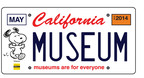 """The California license plate will feature a Snoopy drawing by Charles Schulz and the phrase """"museums are for everyone."""" Orders can be placed online at www.snoopyplate.com to help get the beloved beagle on California cars. When 7,500 plates are sold, the DMV will begin production."""