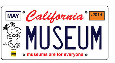 "The California license plate will feature a Snoopy drawing by Charles Schulz and the phrase ""museums are for everyone."" Orders can be placed online at www.snoopyplate.com to help get the beloved beagle on California cars. When 7,500 plates are sold, the DMV will begin production."