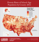According to U.S. Census Bureau estimates released today, the poverty rate for school-age children had no statistical change in 2,199 counties between 2007 and 2013 while 928 counties experienced an increase and 15 showed a decline.