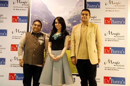 L-R - Dr Mukesh Batra, Emirati singer Aryam and Dr Akshay Batra (PRNewsFoto/Dr Batra's Health Care Group)