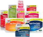 7-Eleven, Inc. launches its private-brand 7-Select line of other-the-counter pain relievers. Pictured here are eight of the 34 medications 7-Eleven stores can choose for their customers.