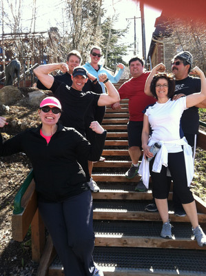 Participants of One Fitness Camp enjoying beautiful Park City, Utah.  (PRNewsFoto/One Fitness Camp)