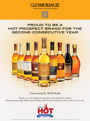 Glenmorangie Single Malt Scotch Whisky is proud to be a Hot Prospect brand for the second consecutive year.  (PRNewsFoto/Glenmorangie)