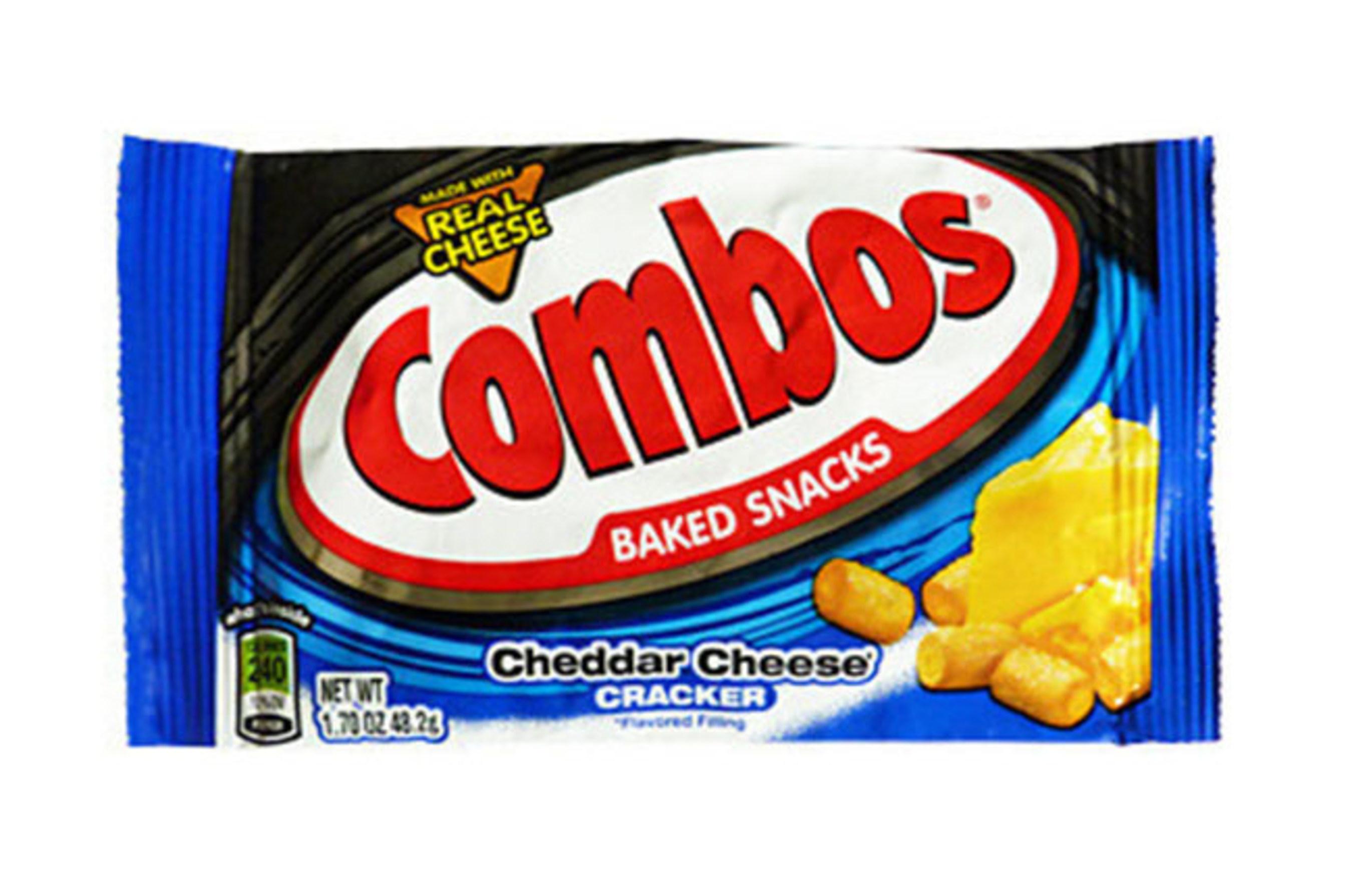 COMBOS SNACKS CHEDDAR CHEESE CRACKER - SINGLES - 1.70 OZ - 18 CT - 12/CA