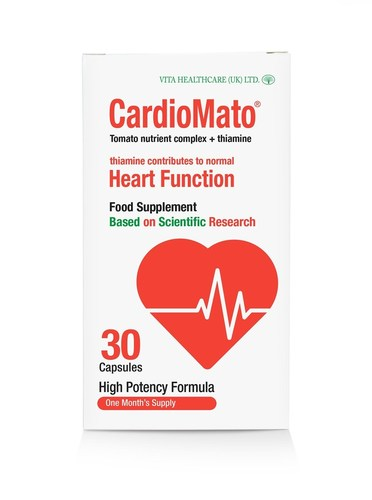 CardioMato, an optimised tomato-nutrient complex, is scientifically proven to support cardiovascular health and contribute to normal heart function, with measurable results in just six weeks (PRNewsFoto/CardioMato)