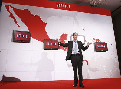 Netflix CEO and Co-Founder, Reed Hastings Officially Launches Netflix in Mexico, Central America and the Caribbean.  (PRNewsFoto/Netflix, Inc., Hector Vivas/Jam Media)