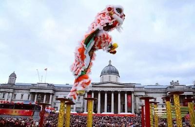 Celebrations in Trafalgar Square