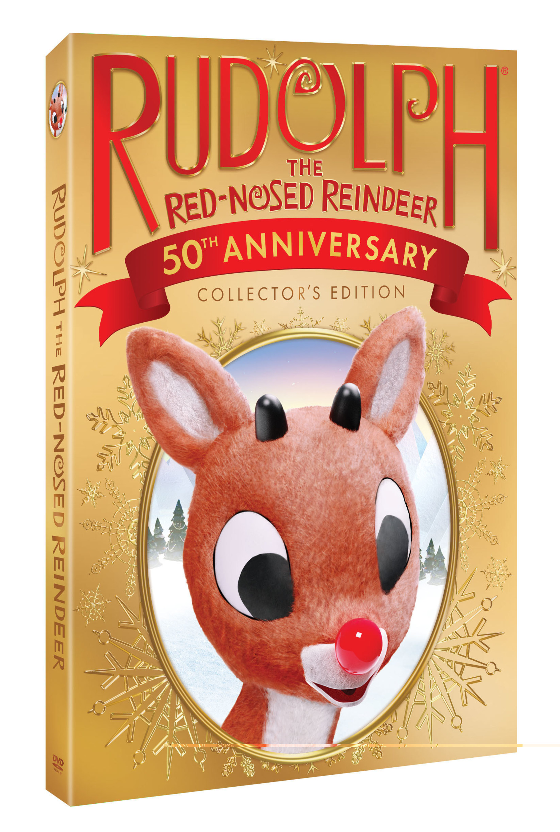 """A special 50th Anniversary DVD and Blu-ray release of the holiday classic """"Rudolph the Red-Nosed Reindeer"""" comes to stores on Nov. 4, 2014.  Rudolph the Red-Nosed Reindeer(c) and (r) The Rudolph Co., L.P.  """"Rudolph the Red-Nosed Reindeer"""" animated program(c) Classic Media, LLC. All rights reserved. (PRNewsFoto/DreamWorks Animation)"""