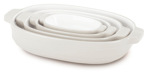 KitchenAid Nesting Casserole Set Almond Cream. (PRNewsFoto/KitchenAid) (PRNewsFoto/KITCHENAID)