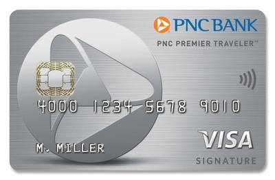 PNC Premier Traveler(sm) Visa Signature(R) credit card.  (PRNewsFoto/PNC Bank)