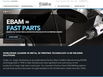 Screenshot of new Sciaky website.