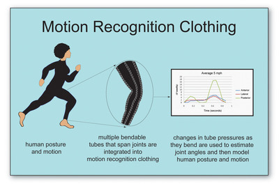 Motion Recognition Clothing.  (PRNewsFoto/Medibotics LLC)
