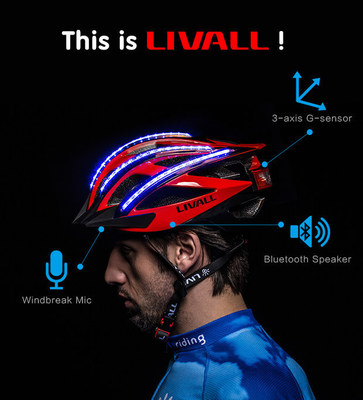 LIVALL Bling Helmet is smart because it has built-in Windbreak Mic, 3-axis G-sensor, Bluetooth Speaker and LEDs on the top and back of the helmet. All these things together make our Bling Helmet extraordinary.