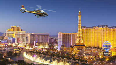 Sundance Helicopters Over Las Vegas Skyline