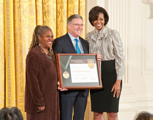 First Lady Michelle Obama Presents Top Museum Award to The New York Botanical Garden