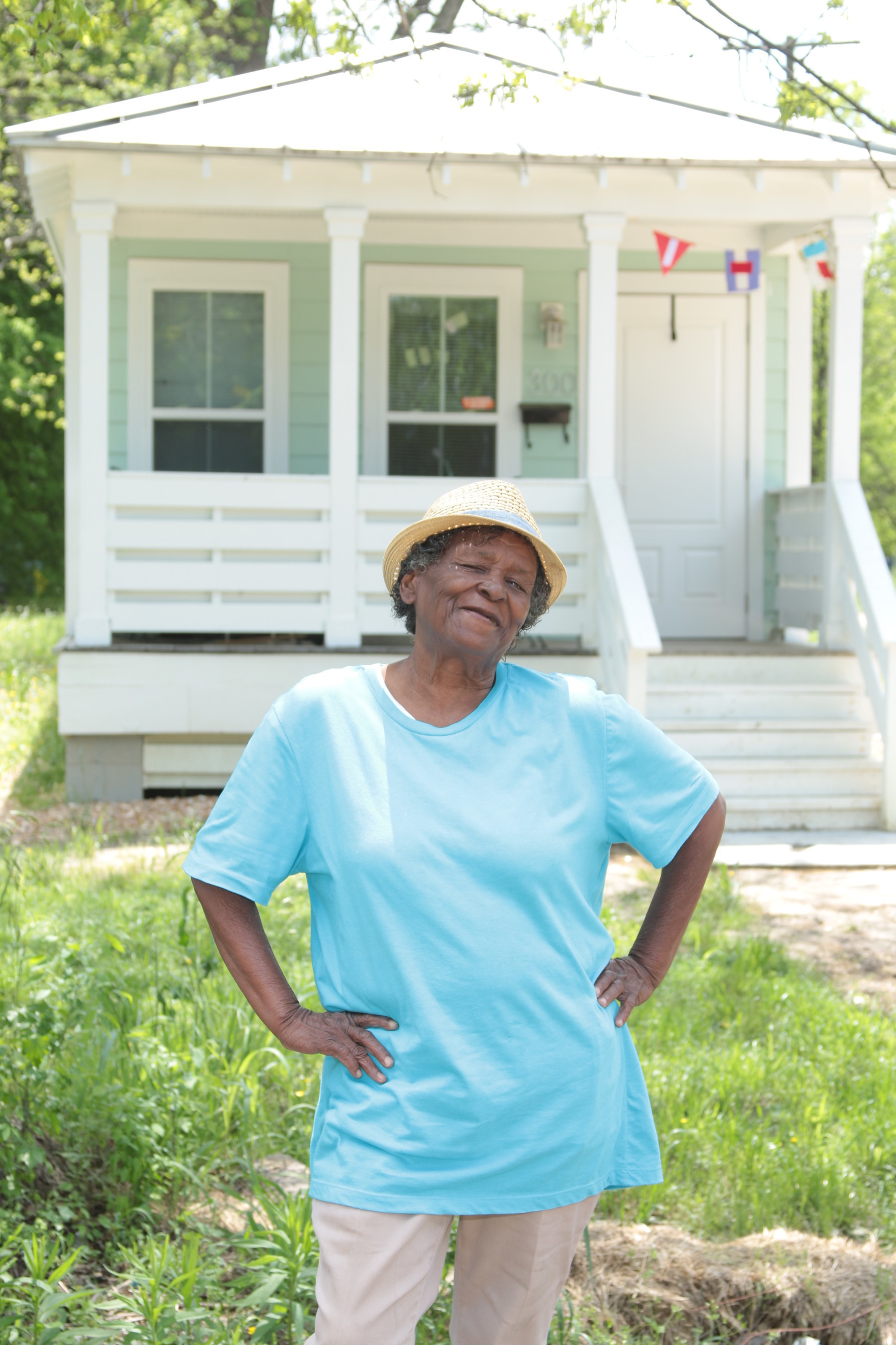 Dorothy Russell, 61, knows you can go home again. She was awarded a Homebuyer Equity Leverage Partnership grant from Planters Bank & Trust Company and FHLB Dallas which was put toward her down payment on her new home. Her new home is located on the same lot of her childhood home.