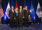 From left to right: Navy Federal President & CEO, Cutler Dawson; Peggy Lockard; Chairman, John A. Lockard and Chief of Naval Operations, Adm. Jonathan W. Greenert (PRNewsFoto/Navy Federal Credit Union)