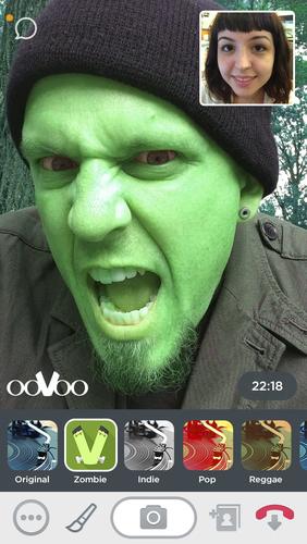 New ooVoo Monster Mash Filter. (PRNewsFoto/ooVoo, LLC) (PRNewsFoto/OOVOO, LLC)