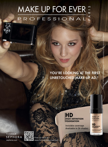 MAKE UP FOR EVER Launches First Ever Unretouched Print & Online Ad Campaign