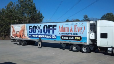 Adamandeve.com wrapped truck hits streets