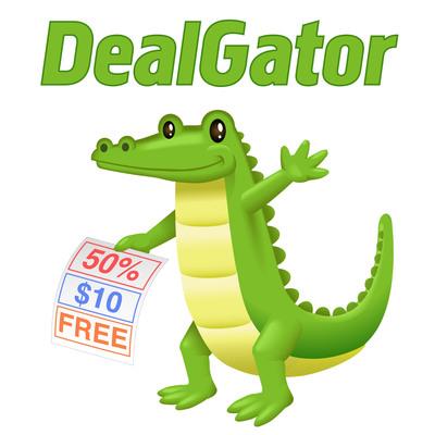 DealGator Logo and Mascot.