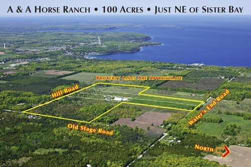 Aerial of A & A Ranch Sister Bay, Door County WI (PRNewsFoto/Accelerated Marketing Group)