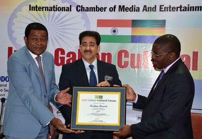 Sandeep Marwah honored by the Government of Republic of Gabon