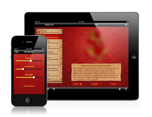 Download iKamasutra on your iPhone, iPad, Android or Windows 7 device at www.ikamasutra.com. Unlock an exclusive coupon code to save on all Kama Sutra products online at www.kamasutra.com.  (PRNewsFoto/The Kama Sutra Company)