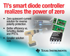 Industry's first zero quiescent current solution from Texas Instruments provides reverse polarity protection in industrial power tool and automotive applications.