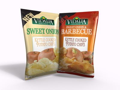 Inventure Foods, Inc. Adds Sweet Onion and Sweet Onion Barbecue flavored Kettle-Cooked Potato Chips To Its Successful Line Of Vidalia Brands(TM) Snack Foods. (PRNewsFoto/Inventure Foods, Inc.)