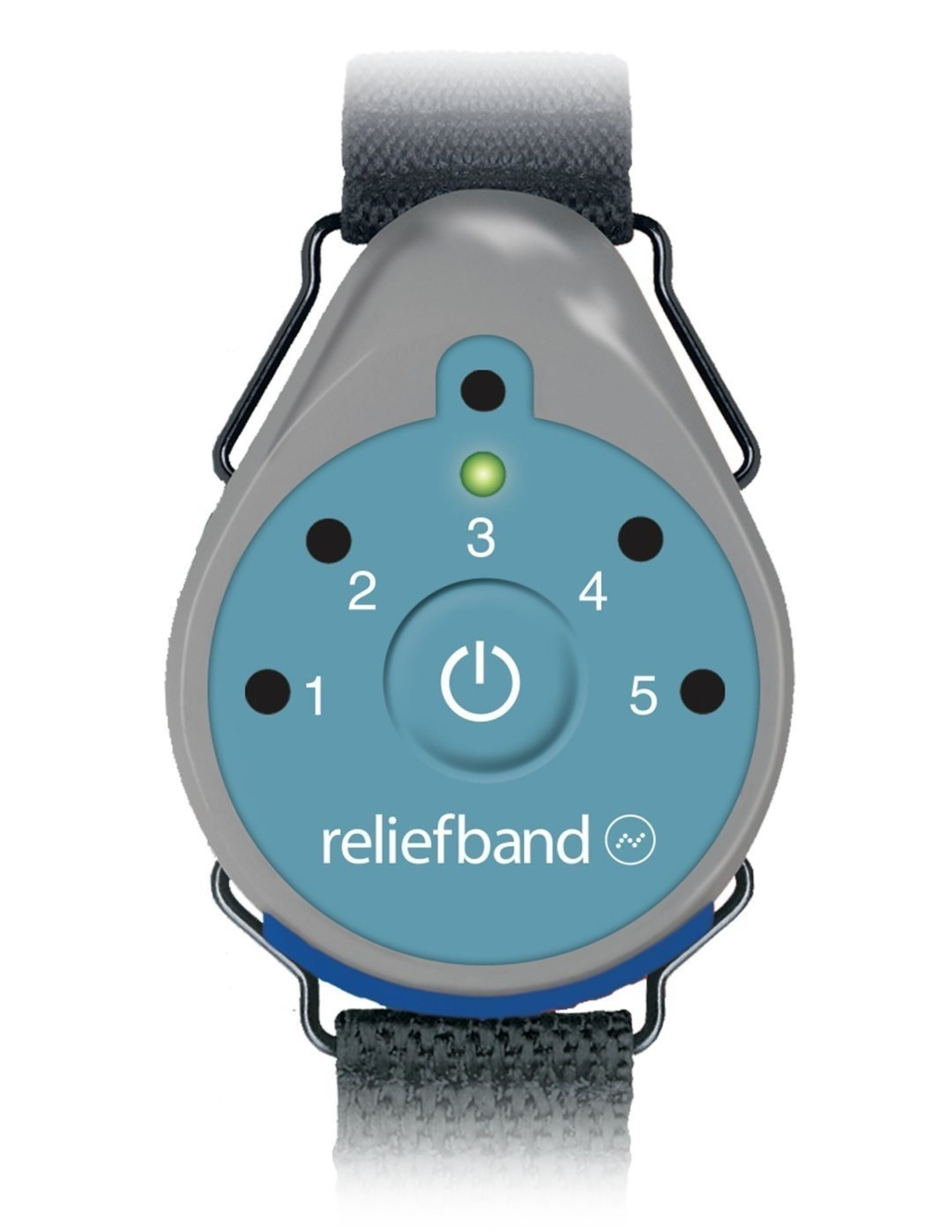 ReliefBand, an FDA cleared wearable device for the drug-free treatment of nausea and vomiting associated with morning and motion sickness.