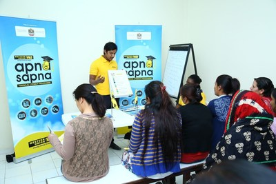 The program has trained over 18,500 migrant workers since inception in 2014. The second module of Apna Sapa, Western Union's financial Literacy program focuses on personal savings. (PRNewsFoto/Western Union)
