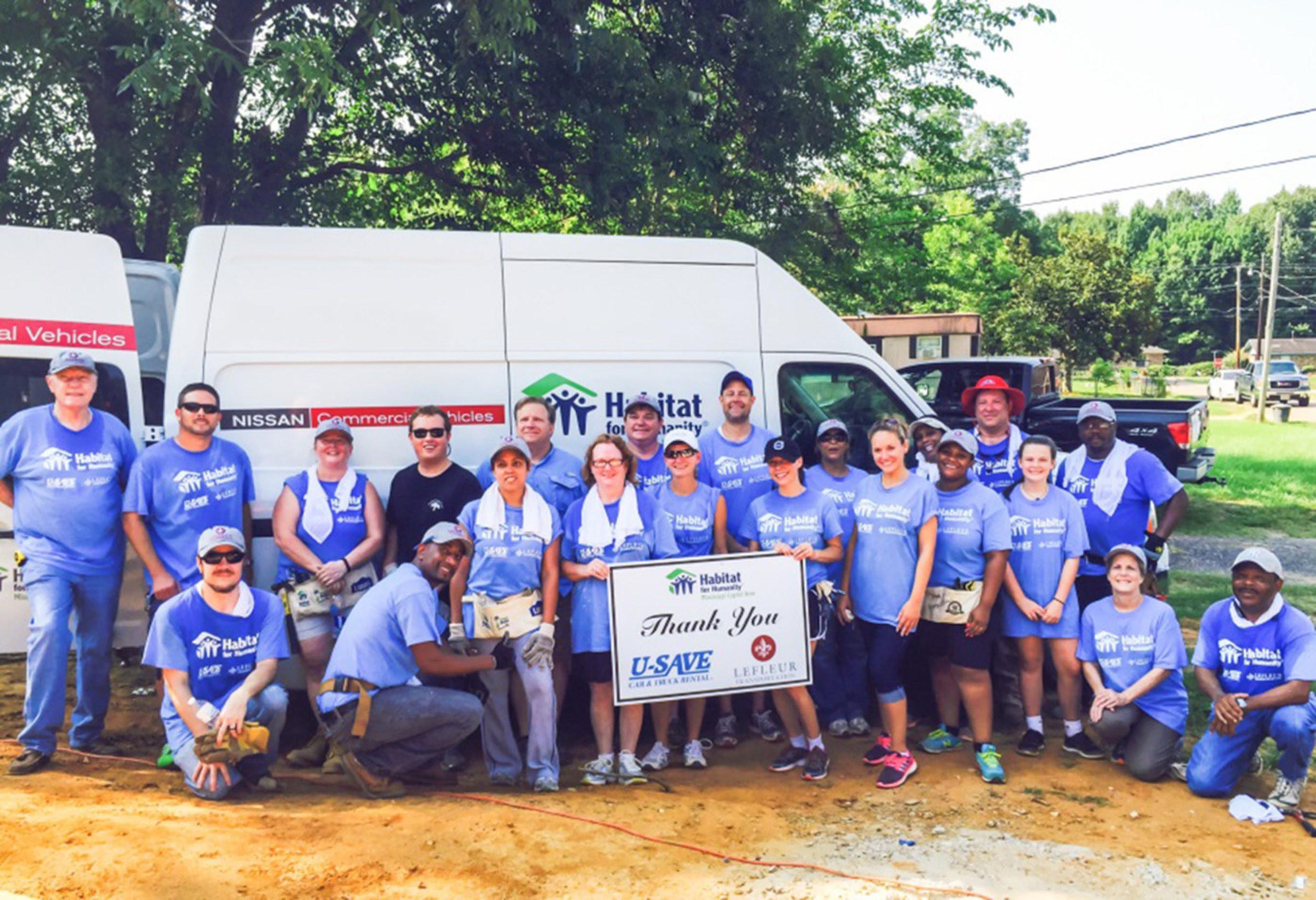 U-Save Car & Truck Rental and LeFleur Transporation team up with Habitat for Humanity Mississippi