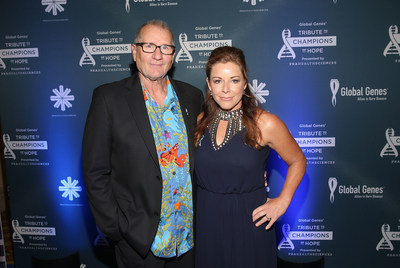 Ed O'Neill (Modern Family) with Nicole Boice, CEO of Global Genes, at the 5th Annual RARE Tribute to Champions of Hope