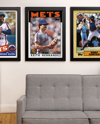 The Topps Company today unveiled Archive Prints, a collection of vintage art prints featuring digitally-remastered original Major League Baseball card artwork. For the first time ever, baseball fans can hang their favorite childhood baseball heroes, in the iconic Topps baseball card design, on the walls of their sports room, man cave, or office. Topps' first foray into the home decor market will feature more than 1,000 original Archive Prints of the biggest names in Major League Baseball from the 1970s, 1980s, and 1990s. (PRNewsFoto/The Topps Company)