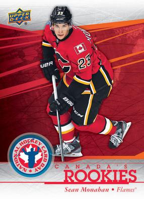2014 Upper Deck National Hockey Card Day Sean Monahan Rookie Card. (PRNewsFoto/Upper Deck) (PRNewsFoto/UPPER DECK)