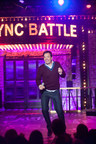 Lip Sync Battle on April 2, 2015 with Jimmy Fallon and Dwayne Johnson.