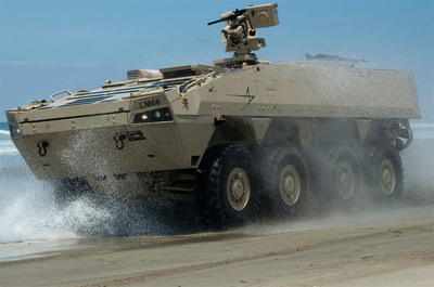 Lockheed Martin's Havoc, a candidate for the Marine Personnel Carrier contract, recently achieved all objectives in protecting occupants from mines and other ballistic threats.  (PRNewsFoto/Lockheed Martin)