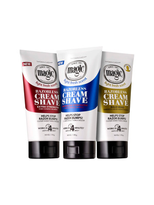 Magic Shave Razorless Cream Shave! Get rid of the razor, get rid of the razor bumps.
